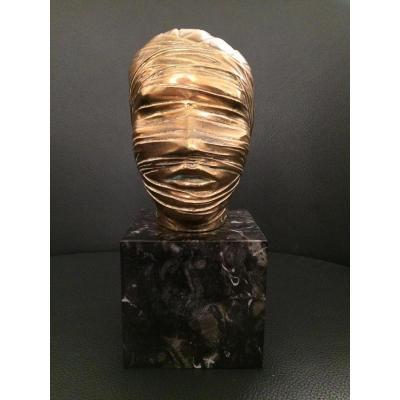 Igor Mitoraj Polish Sculpture Tête Bandée Poland Bronze