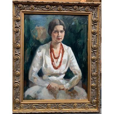 Nicolas Millioti Милиоти Николай Дмитриевич Portrait De Femme Russian