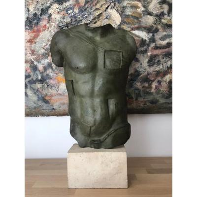 Igor Mitoraj (1944-2014) Persée Sculpture En Bronze Polonais