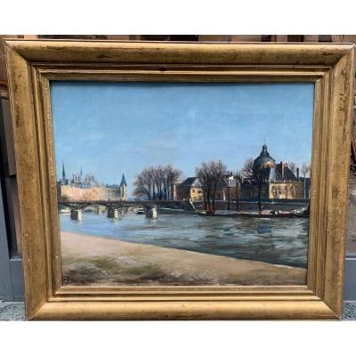 Henri Hayden (1883 Varsovie - 1970 Paris)  Le Pont Des Arts Paris 1934