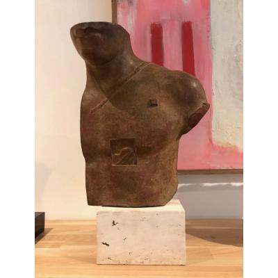 Igor Mitoraj Polish Polish Asclepius Asklepios Bronze Sculpture With Brown Patina