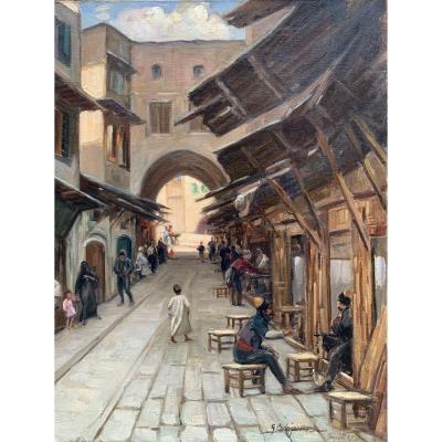 Georges C. Michelet (1873-?) Le Zouk à Tripoli  طرابلس 1931  ṭarābulus