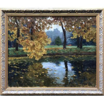 Tit Jokovlevic Dvornikov (1862 Kursk, Russia - 1922 Odessa, Ukraine) Autumn Landscape 1913