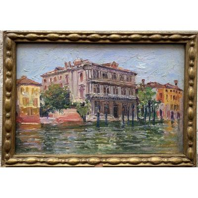 Alexandre Isailoff (1869 Constantinople - 1944)  Vendramin Calergi à Venise