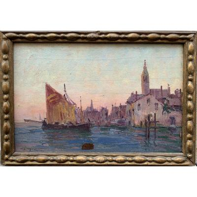 Alexandre Isailoff Александр Исайлофф Canareggio Venice Oil On Panel