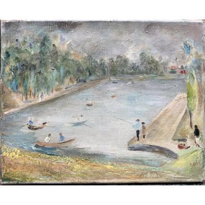 Wladyslaw Jahl (1886-1953) Parc De Sceaux