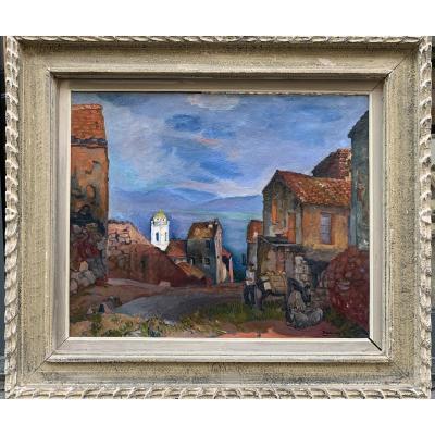 Pierre Daura (1896-1976) Rue à Cargèse  Corse Du Sud