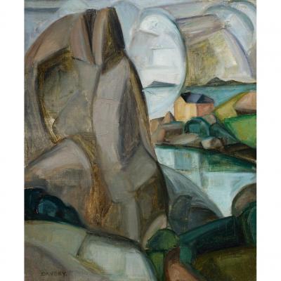 André Favory Ploumanach Les Rochers Gris Oil On Canvas