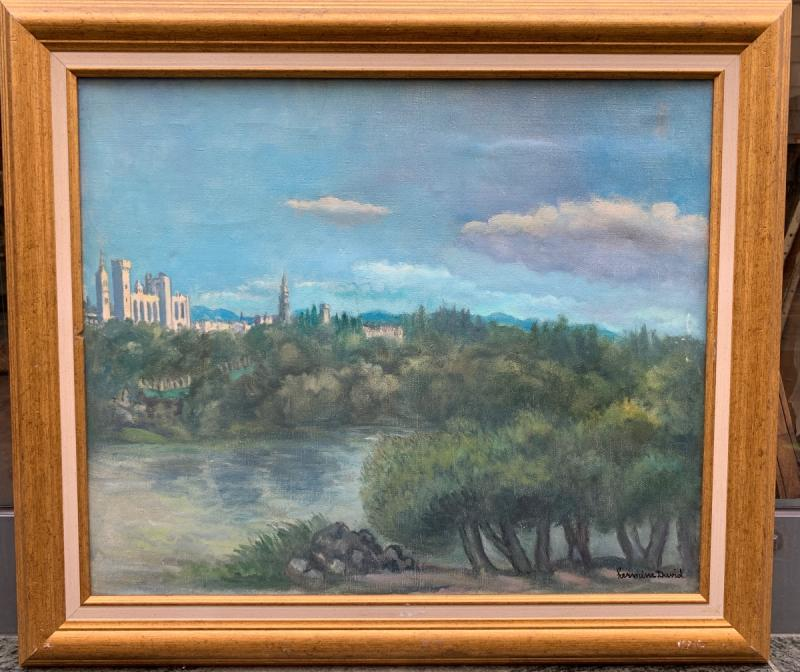 Hermine David (1886-1970) Avignon, The Palace Of The Popes And Notre-dame Des Doms-photo-2