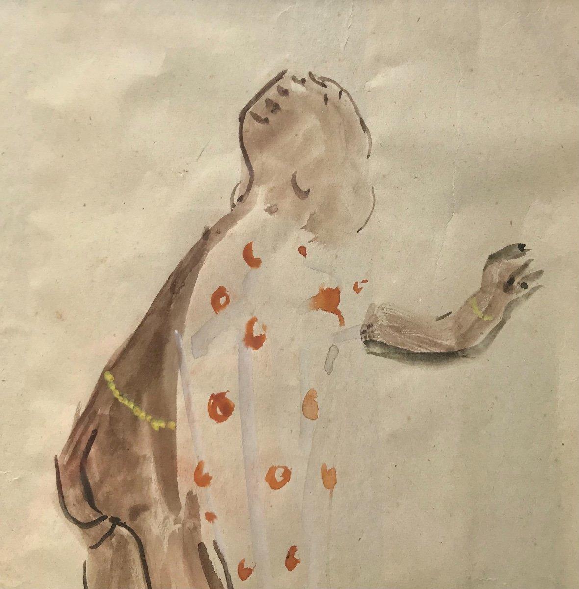 Elizabeth Faure- Aquarelle D Un Enfant Africain -photo-1