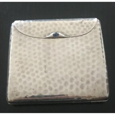 Hammered Silver Art Deco Cigarette Cases