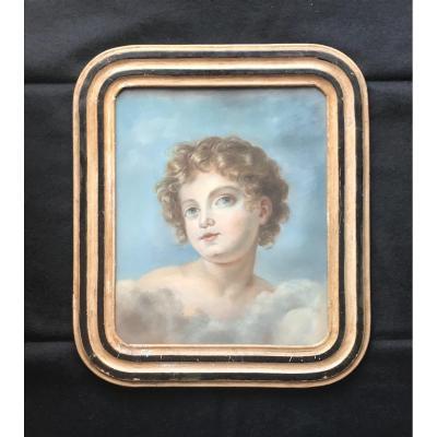 Portrait D Un Chérubin , Pastel XVIIIe