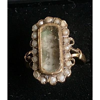 Bague XVIIIe En Or Avec Une Miniature