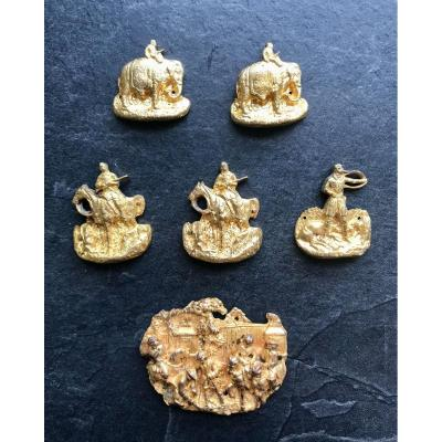 Cinq Petits Bronzes D Ornement