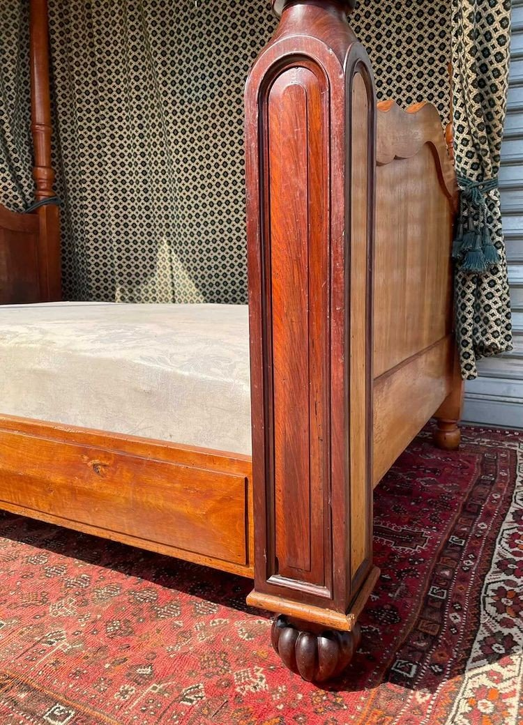 Canopy Bed In Mahogany 19th Time-photo-1