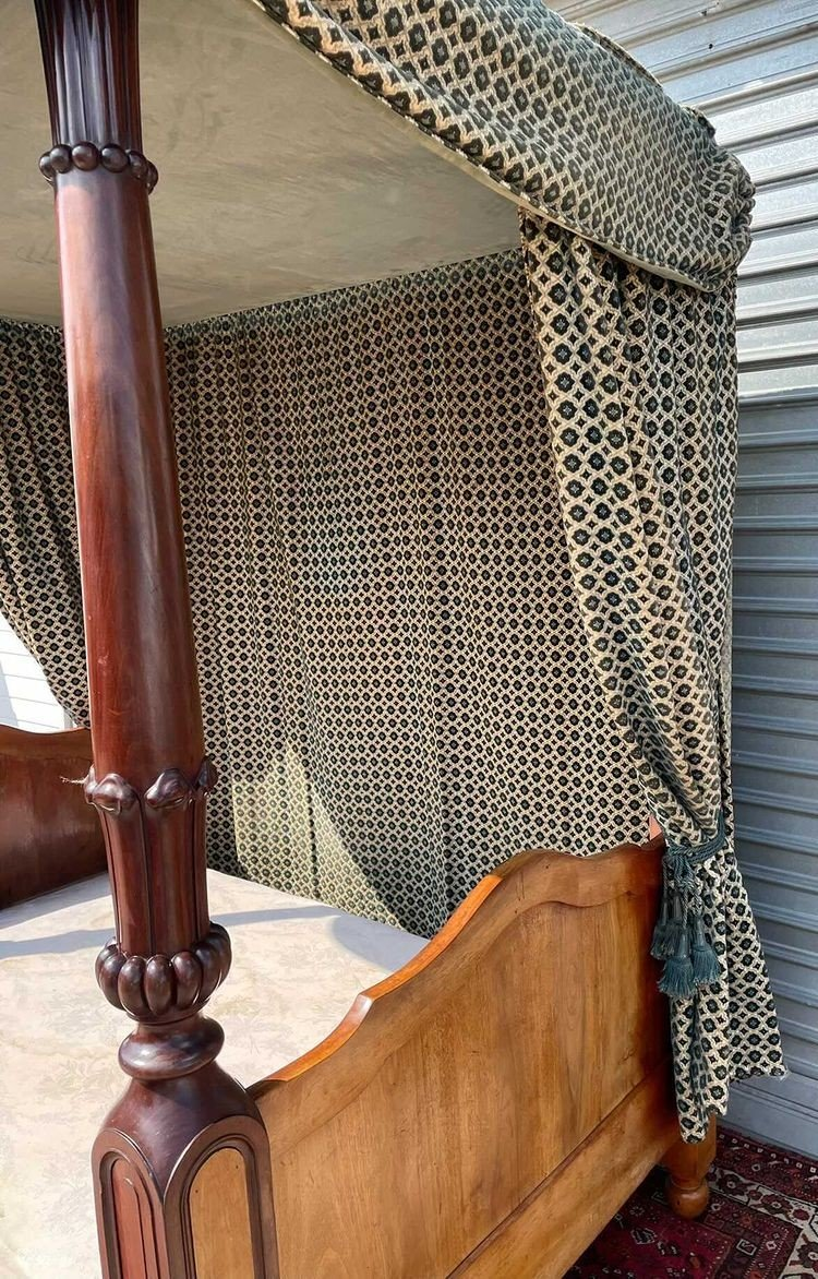 Canopy Bed In Mahogany 19th Time-photo-6