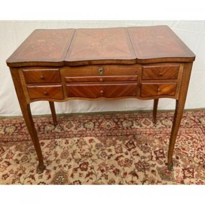 Louis XV Style Dressing Table In Marquetry