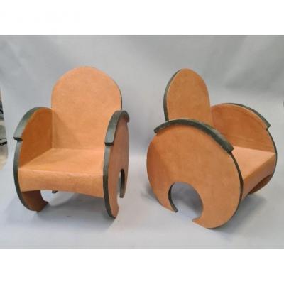 Armchairs Style Bergère Art Deco