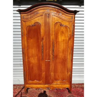 Louis XV Wardrobe In Cherry, 18th Time