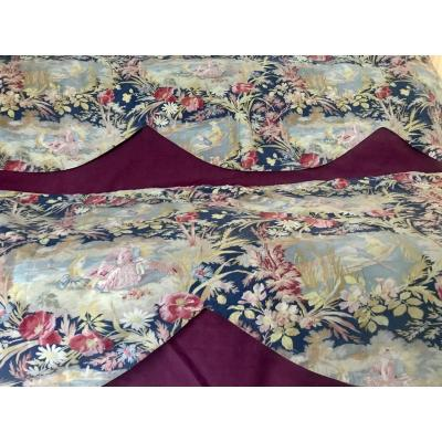 Long Valance Napoleon III Fabric