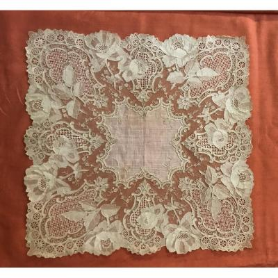 Handkerchief XIX Needle Lace