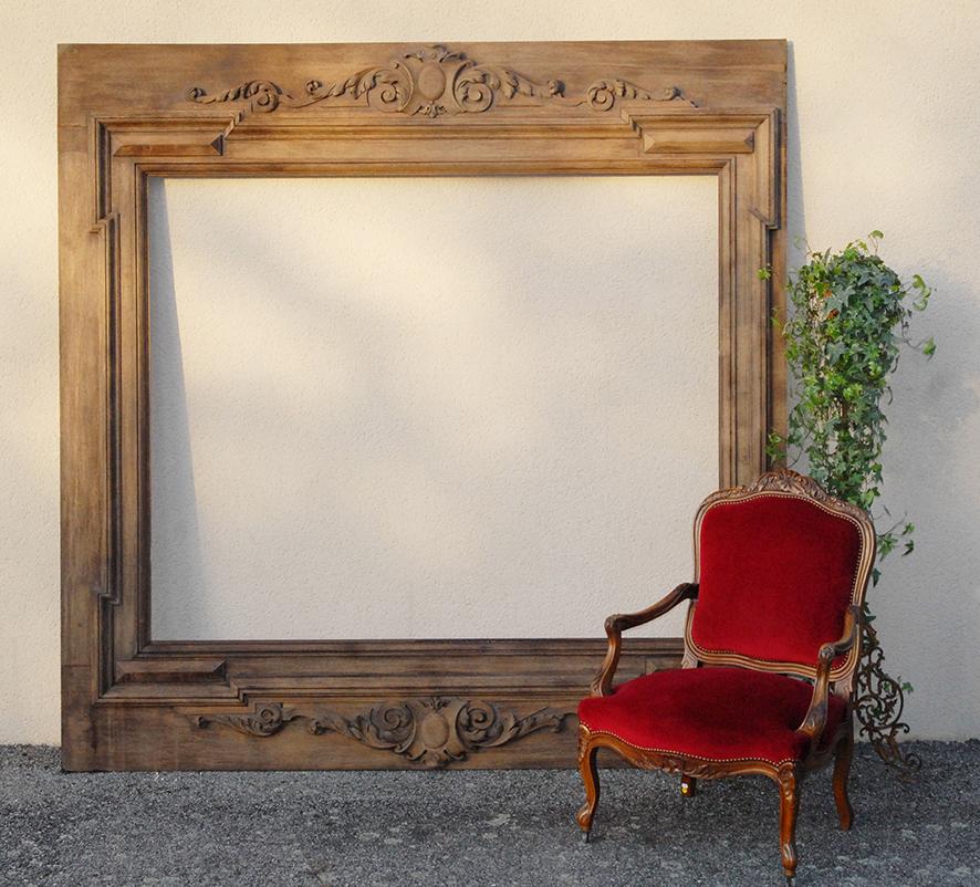 Very Large Woodwork, Framing, Woodwork Element, Frame, Oak, XIXth Time