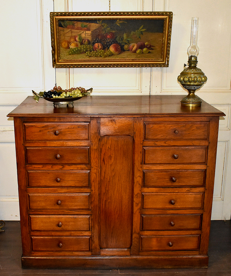 Commercial Furniture, Countertop, Solid Oak, Cabinet With Drawers