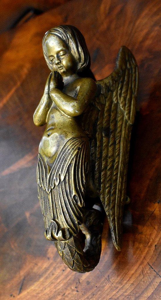 Heurtoir de Porte, Poignée  En Bronze, Sirène, Ange .