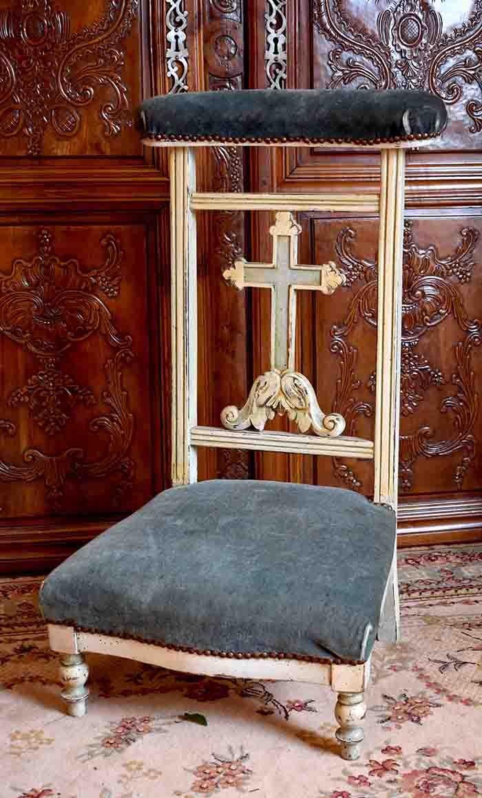 Prie Dieu En Bois Laqué, Epoque Napoléon III, XIX ème