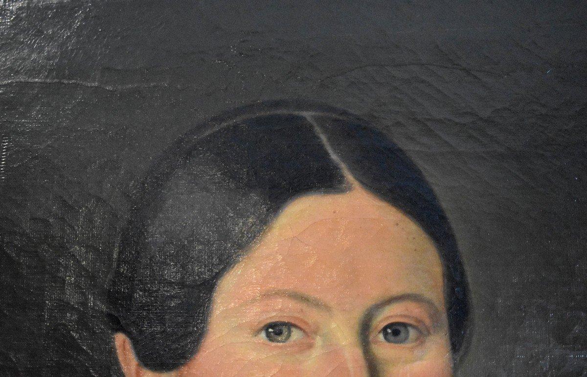 J. Roberti, Portrait Of Madame Catherine De Lasnerie, 1841, Oil On Canvas, Female Portrait-photo-4