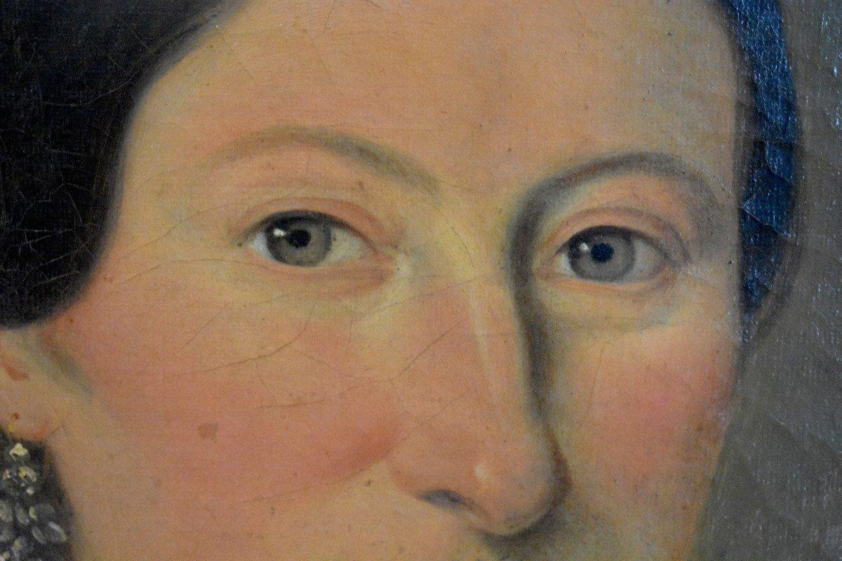 J. Roberti, Portrait Of Madame Catherine De Lasnerie, 1841, Oil On Canvas, Female Portrait-photo-5