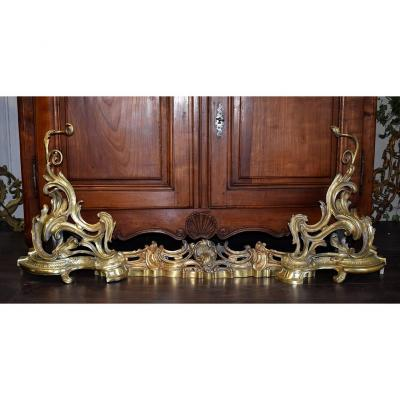 Bar Fireplace, Front, Front Of Fireplace, Louis XV Style, Bronze, XIXth