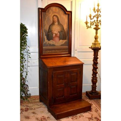 Oratory, Furniture Of Devotion, Pray God, Epoch XVII, Portrait Virgin Mary