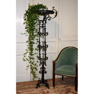 Holder, Planter, Suspension, Wrought Iron Plant Holder, 40s-50s