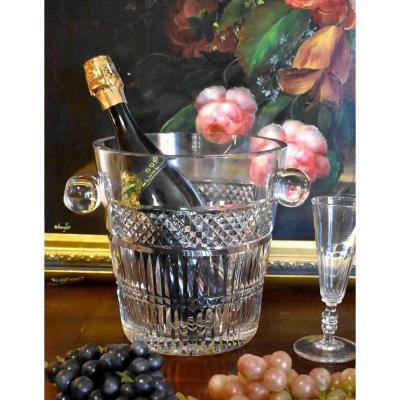 Champagne Bucket In Cut Crystal