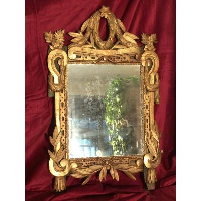 Mirror Louis XVI Golden Wood