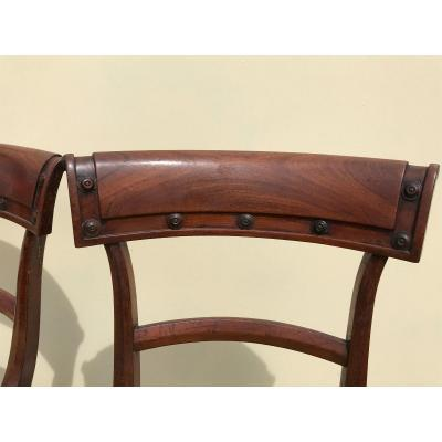 Suite Of 6 Nineteenth Mahogany Chairs