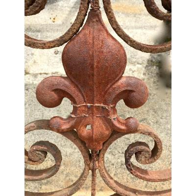 Wrought Iron Guardrail Louis XV Period