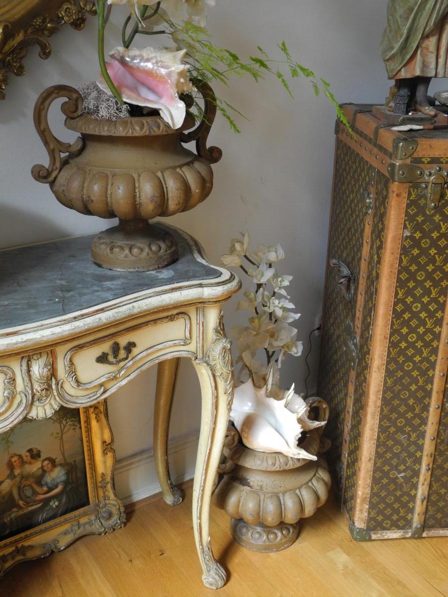 Paire De Vasques De Jardin En Fonte. Napoléon III-photo-4