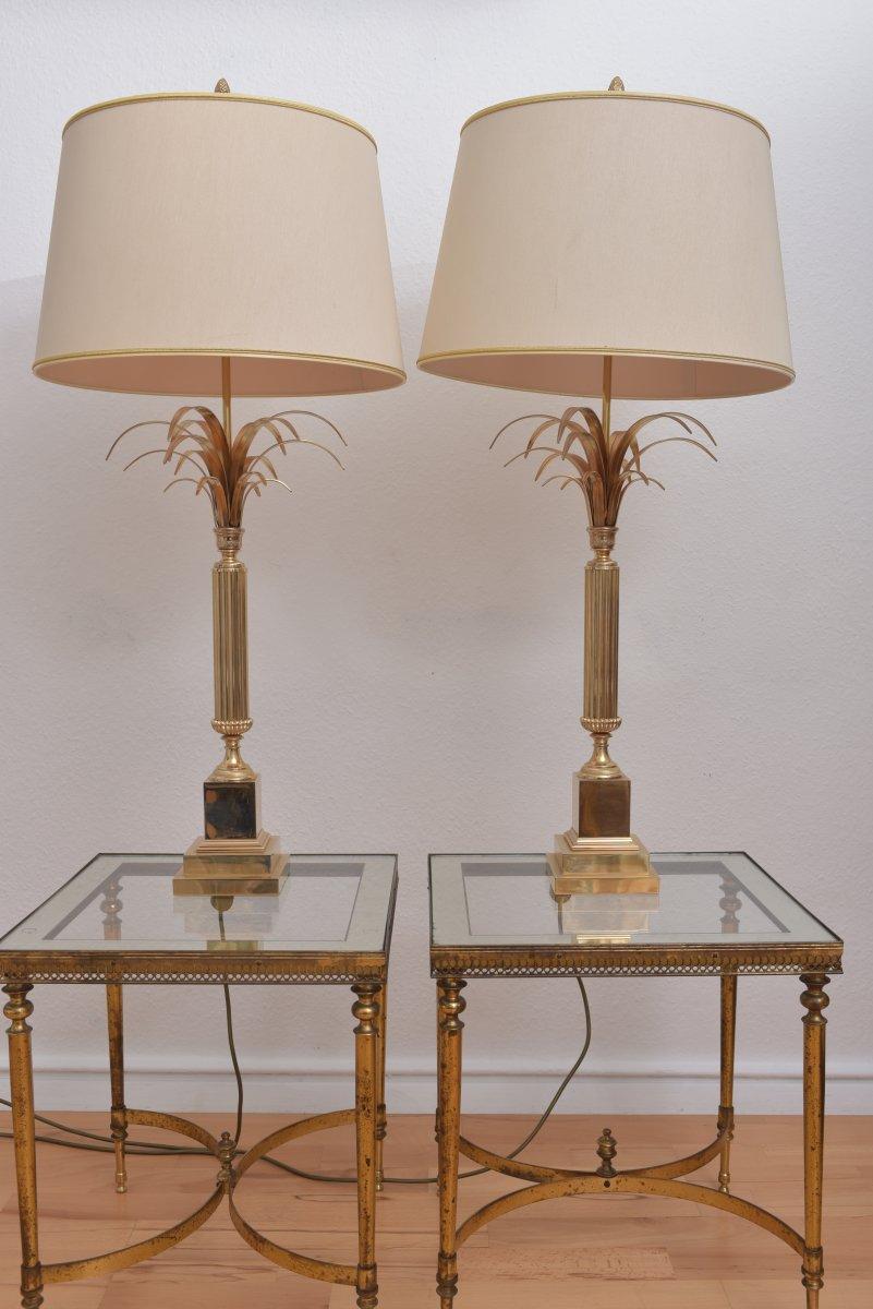 Lampes Roseaux Attribuées  à Maison Charles. Années 60