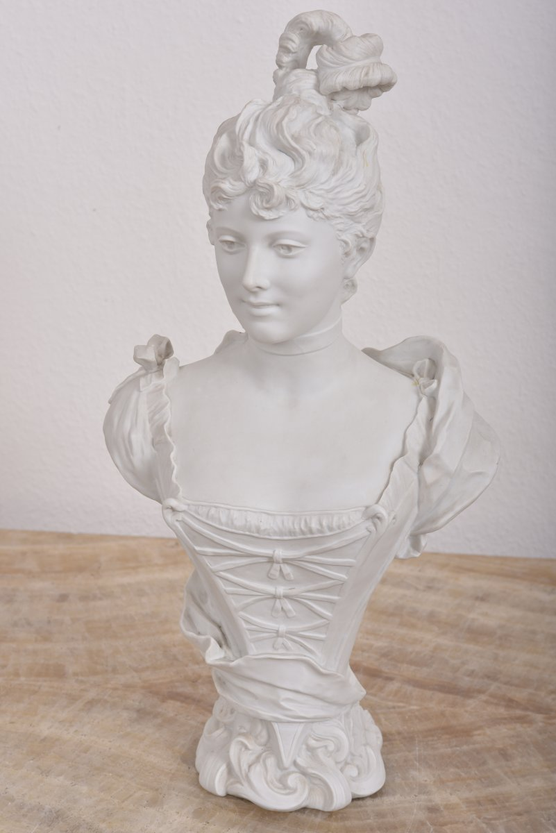 Imposant Buste Signé G.levy 1820-1889.-photo-2