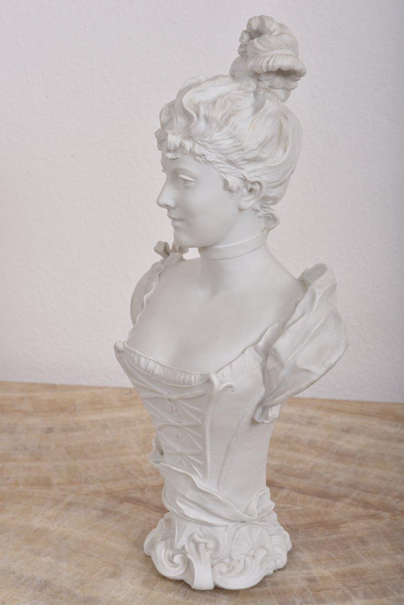 Imposant Buste Signé G.levy 1820-1889.-photo-3