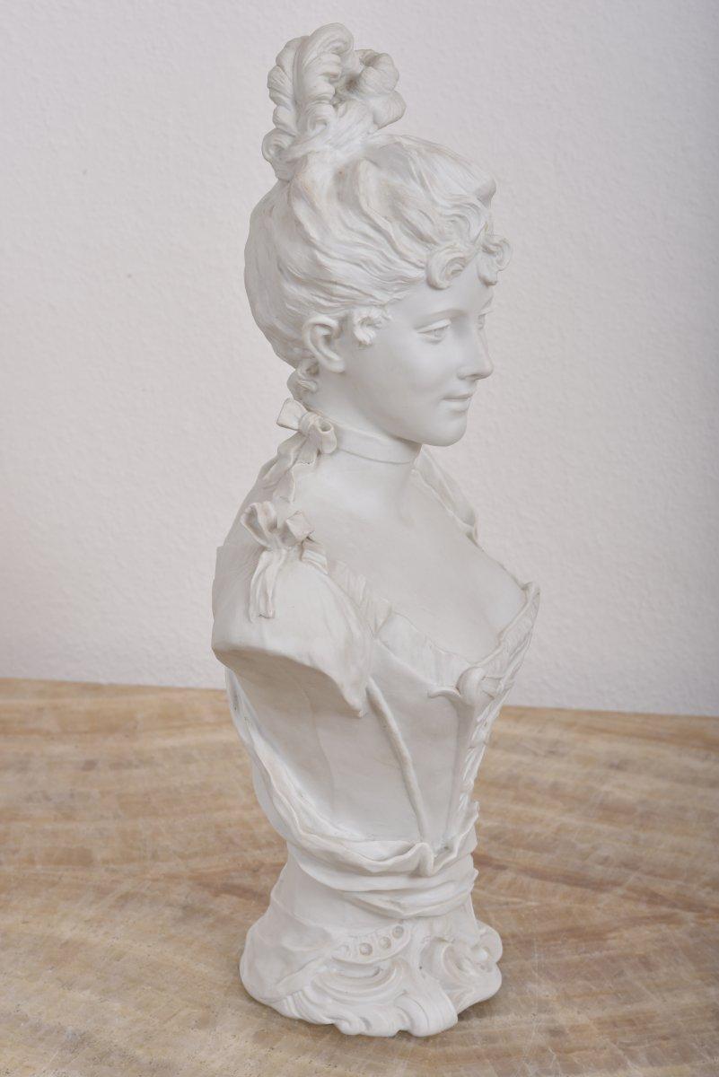 Imposant Buste Signé G.levy 1820-1889.-photo-4