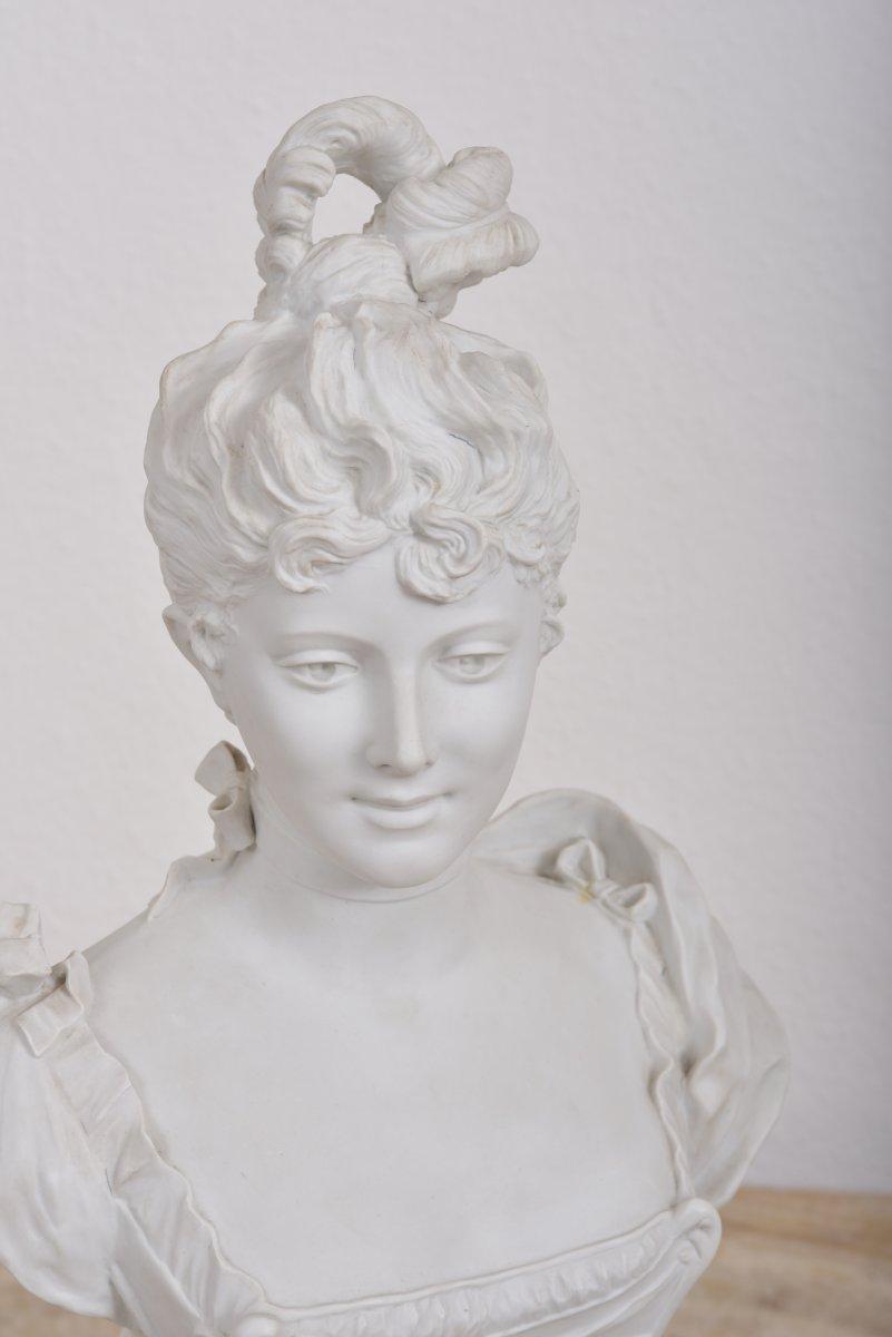 Imposant Buste Signé G.levy 1820-1889.-photo-1