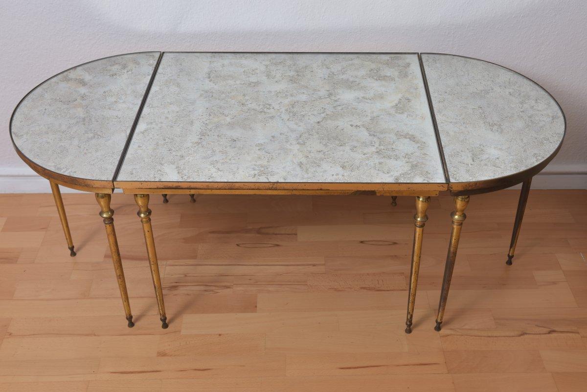 Table Basse Tripartite Vers 1950 Dans Le Goût De Maison Jansen Ou Charles.