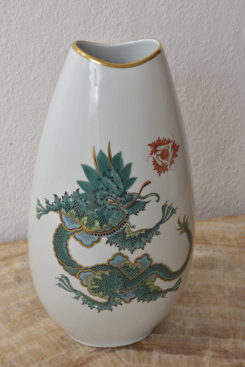 Chinese Dragon Dragon Vase.rosenthal Year 50-photo-2