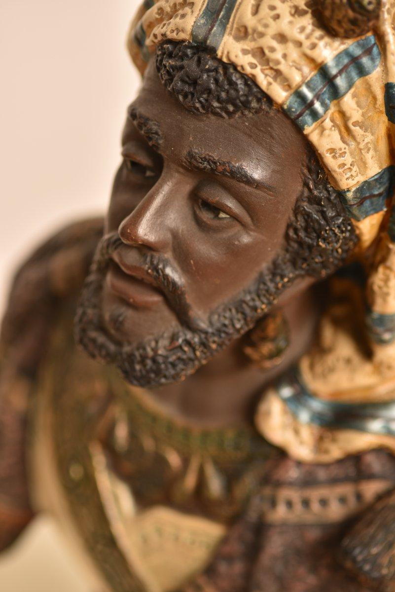 Bernhard Bloch. Buste Orientaliste. 1890. Autriche.-photo-4