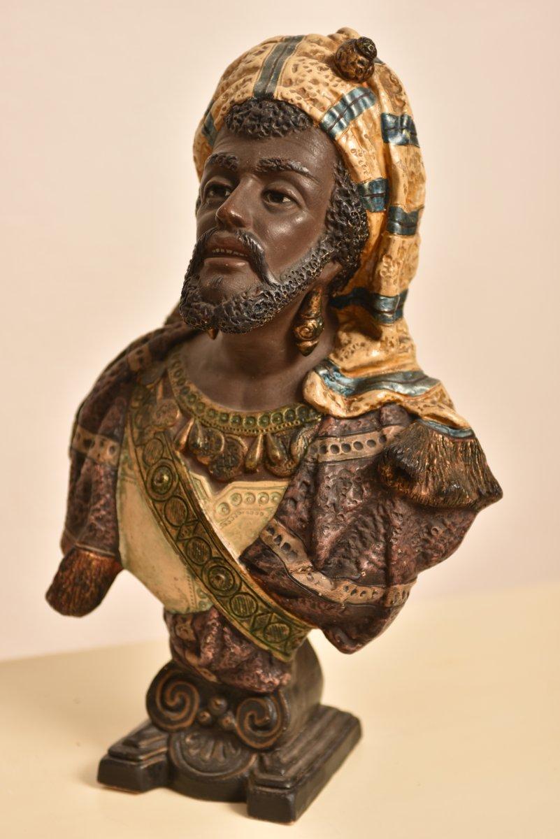 Bernhard Bloch. Buste Orientaliste. 1890. Autriche.-photo-1