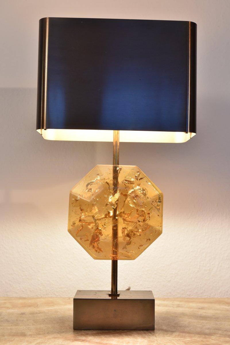 """Lampe Maison Charles Signée.  1960. Modèle """"Octogonal""""."""