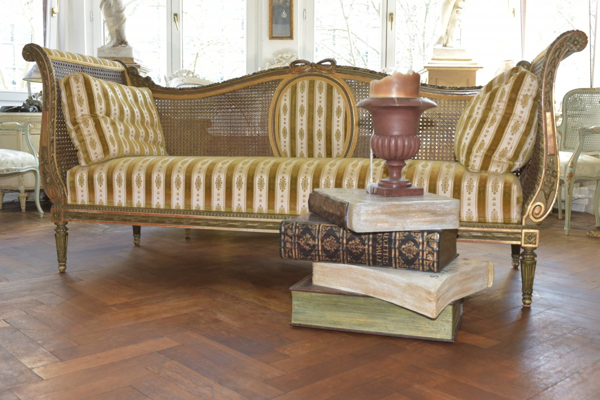 Canapé De Style Louis XVI. Epoque Napoléon III-photo-2